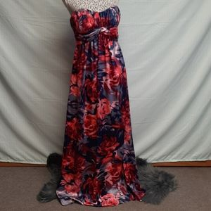 Gianni bini silky formal floor length dress